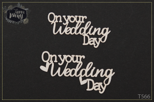 "Tekturka - ""On your Wedding Day""  2 szt"